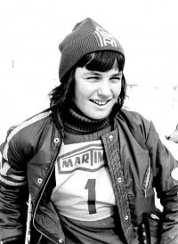 Olga Charvátová, a portrait from 1974