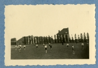 Football matches organized by a young team by the church of St. Ignac, Prague, early 1940s