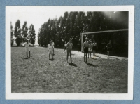 Football matches organized by a young team at the church of St. Ignac, Prague, early 1940s