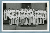 Minister's chorus of the Church of St. Ignac, Prague, second half of the 1940s