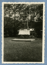 The altar, the camp of the renewed 7th Division of Catholic Scouts, summer 1945, Šumava