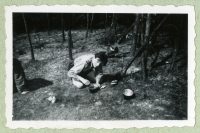 The altar at the camp of the renewed 7th Division of Catholic Scouts, summer 1945, Šumava