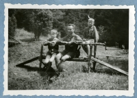 Josef´s group, the camp of the renewed 7th Division of Catholic Scouts, summer 1945, Šumava