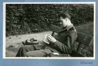 Josef Loub serving at the Auxiliary Technical Batalions on holiday in Luhačovice, early 1950s
