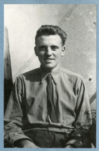 A period portrait of Josef Loub from the period when he served at the Auxiliary Technical Batalions, the first half of the 1950s