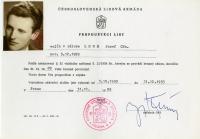 Josef Loub´s leaving certificate