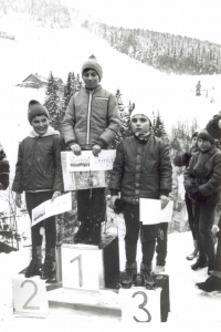 Winning first place at a competition, 1971