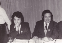 Young Ján Berky (on the left side) with his famous father.
