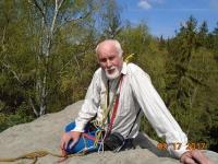 Jaroslav Veselý on a cliff