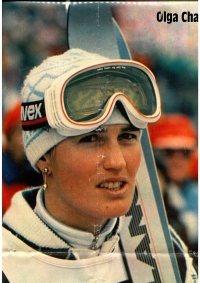 Olga Charvátová in Stadion Magazine near the end of her career, about 1986