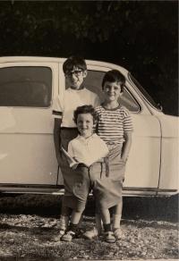 Three children of Trudy Bandler Scaramuzzi, Rome, around 1967