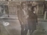 Jefstavij Oleksijovyč Adamčuk with his wife