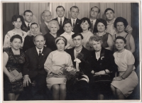 Wedding photo of Ulyana and Petro Dzyndriv (in the center in the first row), 1968