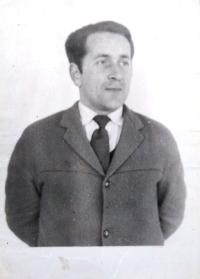 Ján Bajtoš as a teacher in Staškov (sixties)