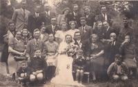 Jiřina Hajná's wedding
