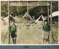 Jiří Vodenka at a scout camp of the Scout Group 10, 1930