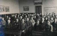 Jiří Vodenka in the second year of school, 1935-1936