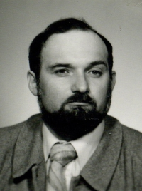 Milan Hulík before 1989, when he was defending dissidents