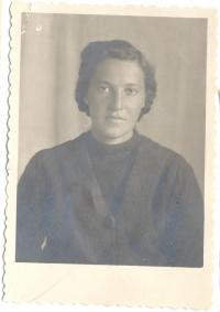 Marta Tsehelska, mother, at a special settlement, 1950s