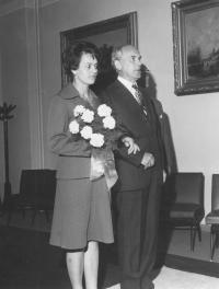 The wedding of Oldřich and Liduška Vašák