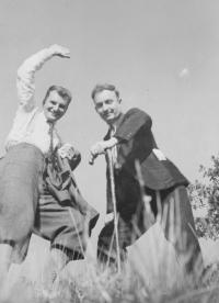 On the right: Father František Vašák