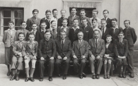 Oldřich Vašák on the bottom right with his grade