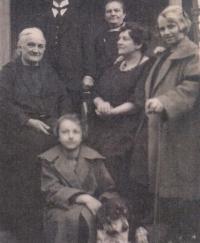 Great-grandmother Anna visiting Čelákovice