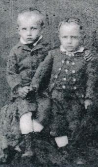 Jaromír and Otakar Volman (circa 1880)