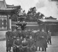 Czechoslovak soldiers stopped in Peking during the return and visited the Forbidden City