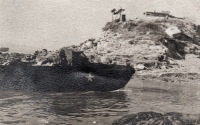 Photo of an American boat taken by the Czechoslovak soldiers during the peace mission in Korea
