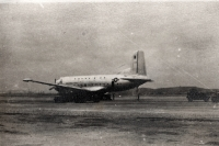 Photo of an American plane taken by Czechoslovak soldiers during the peace mission in Korea