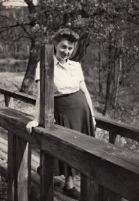 Jaroslav Pánek's wife, Marie Dvořáková, 1950