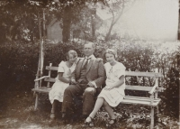From left to right: aunt Jiřina, grandfather Otakar and mother Helena (1925)