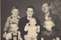 With her family - Helena bottom right, 1943