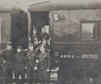 Vincenc Novák during the journey to the peace mission in Korea