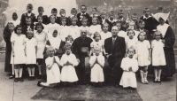 First Communion at the convent of the Sisters of St Lawrence, 1948