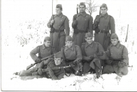 1965 - in the military service, the second one from the left in the 1st row