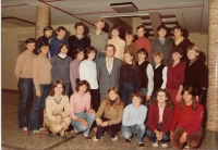 1982 - with the pupils of the Daruvar hight school