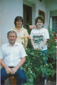 1989 - with his wife and his daughter