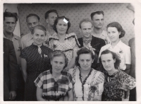 Wedding of Taras Maksymovych (standing in the 2nd row, 2nd from the left) and Nadiya Tselevych (sitting in the middle)