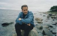 2002, Solovetsky Island, Zoryan Popadyuk on the shores of the White Sea. Photo by Vasyl Ovsienko