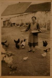 Marie Zíková, née Kavalová. The mother of Josef Zíka