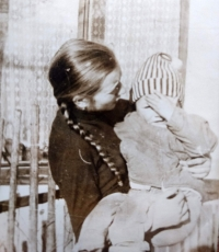 Her two daughters, Helena a Anna Divoká in 1970