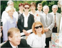 Representatives of Croatian Czechs in Zagreb with President Vaclav Havel and his wife in 2000