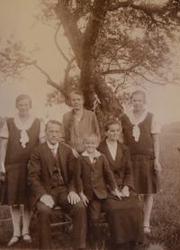The Exner family, circa 1927