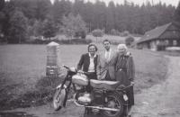 Visiting his mother in Krkonose