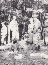 During exercises near Beroun, undated