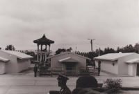Picture from a visit to Punjonjom, located in the Korean demilitarized zone, 1983