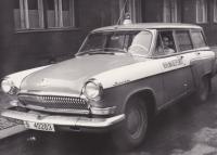 Vladimír Bohata in a Volga car at MSVB
