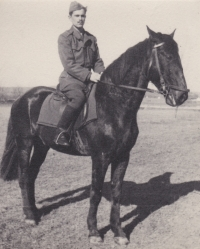 Vladimir Bohata during military service, Ctyri Dvory - Ceske Budejovice, March 1950
